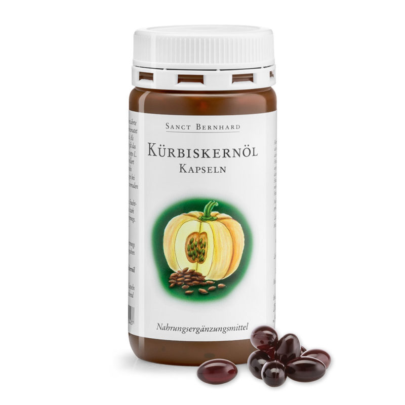 Опаковка на продукта масло от тиквени семки, Kürbiskernöl-Kapseln