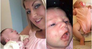 Клеър Хендерсън с бебето си
