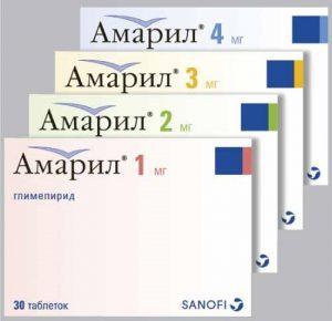 амарил таблетки от диабета