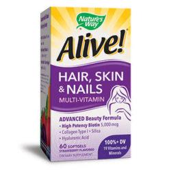 алайв коса, кожа, нокти