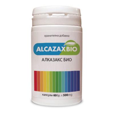 Изглед на опаковката на продукта Алказакс Био