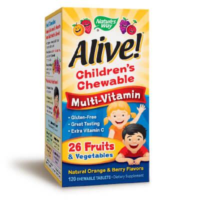 Алайв дъвчащи мултивитамини за деца