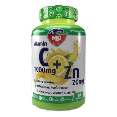 Изглед на опаковката на продукта Витамин С + Цинк